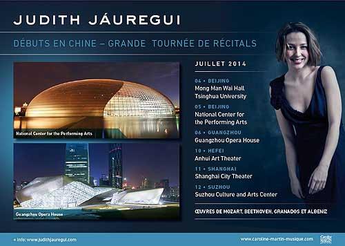 Grande tournée de Judith Jáuregui en Chine
