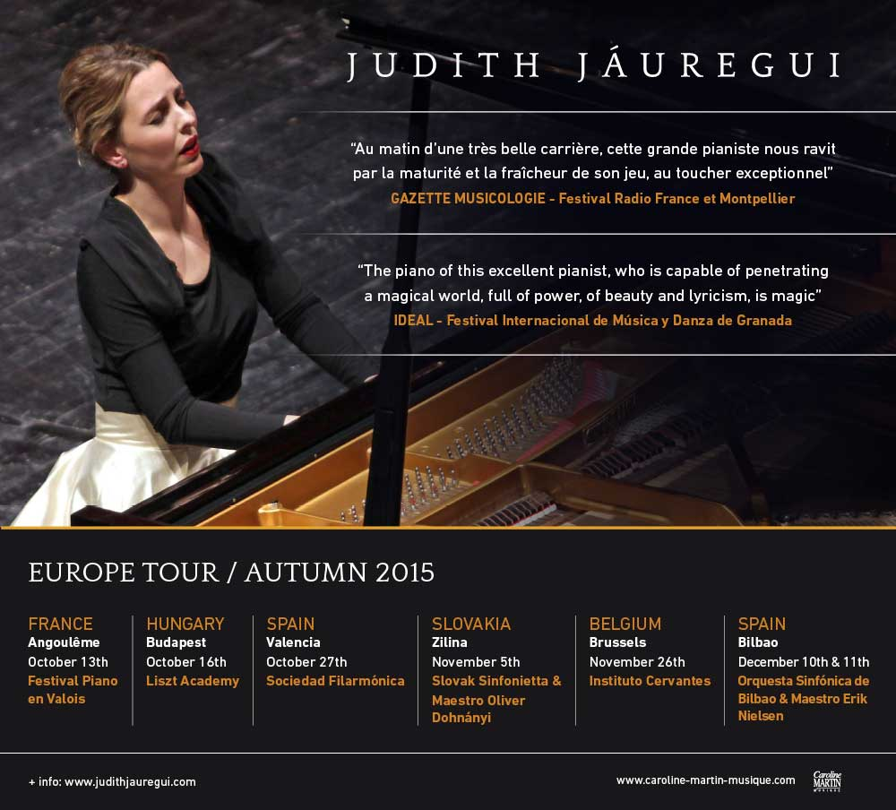 Judith JÁUREGUI en tournée à travers l'Europe