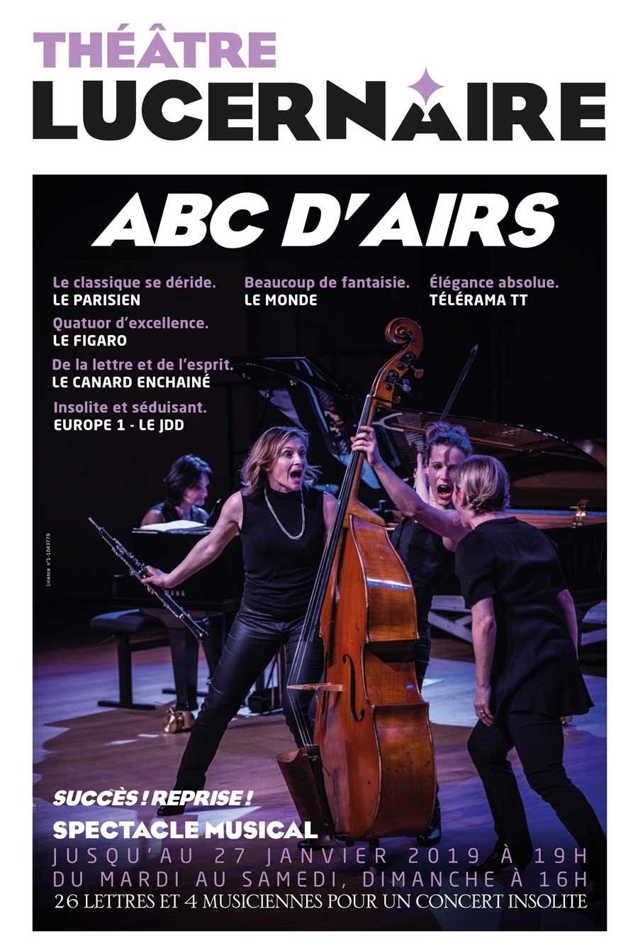 Reprise d'ABCd'airs au Théâtre du Lucernaire à Paris